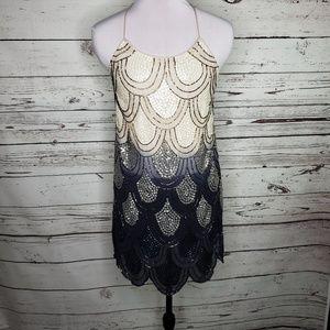 NWT NBD Dame Black Ombré Mini Dress